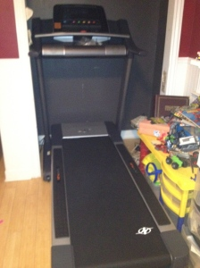 My treadmill hideaway.  Photo Copyright Nutrition Map 2012